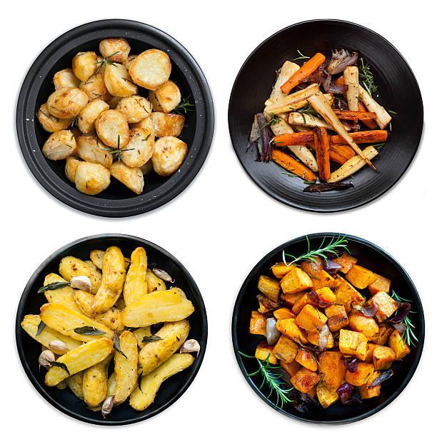 sammlung von gemüse isoliert - knoblauchkartoffeln stock-fotos und bilder