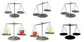 istock Collection of scales. 3D Illustration. 1254177067