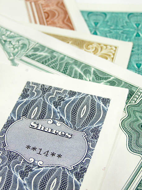 Collection of share certificates  debenture stock pictures, royalty-free photos & images