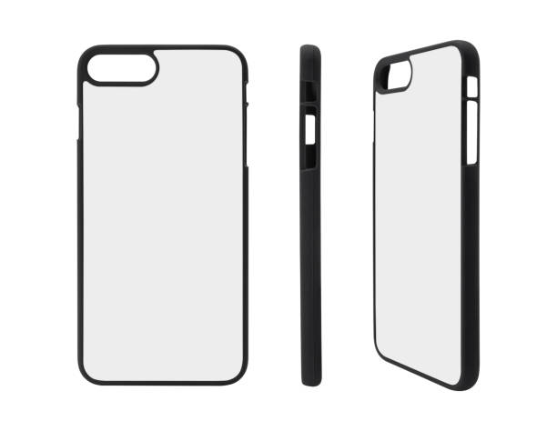 Collection of smartphone case on isolated background stock photo