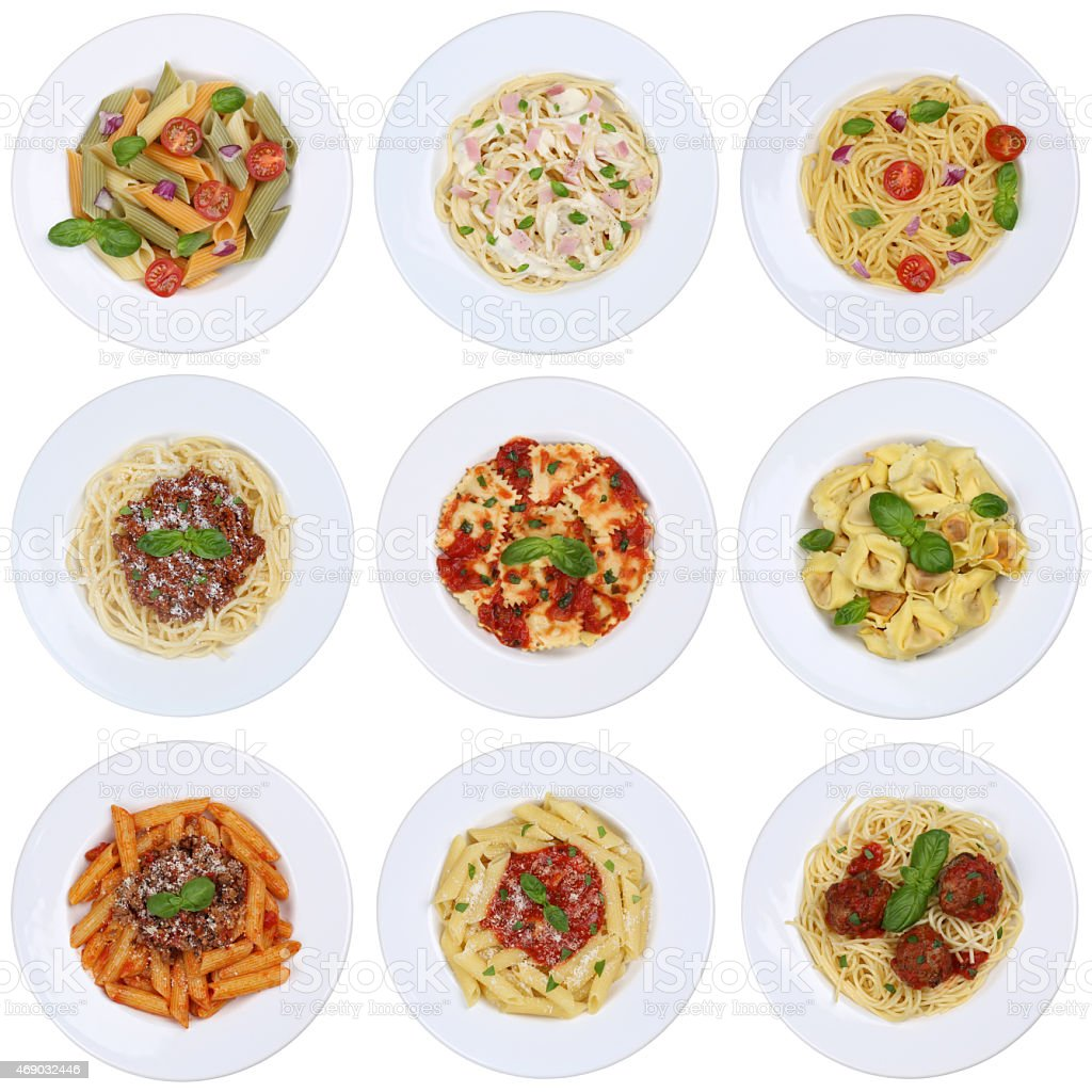 Italian Restaurant Near Me: Collection Of Spaghetti Ravioli Noodles Pasta Meal