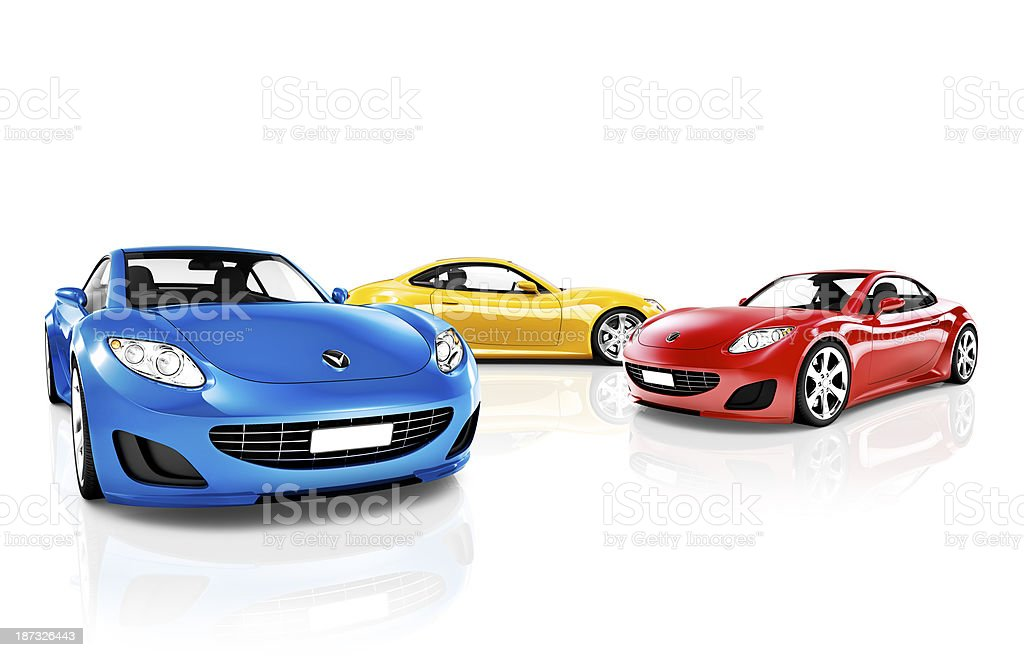 Collection of Sport cars stock photo