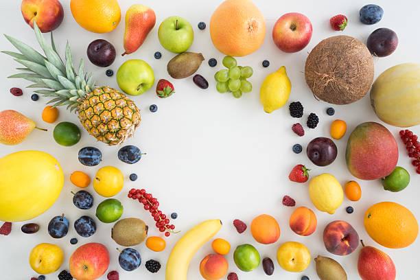 kollektion von sommer früchte - melonenbirne stock-fotos und bilder