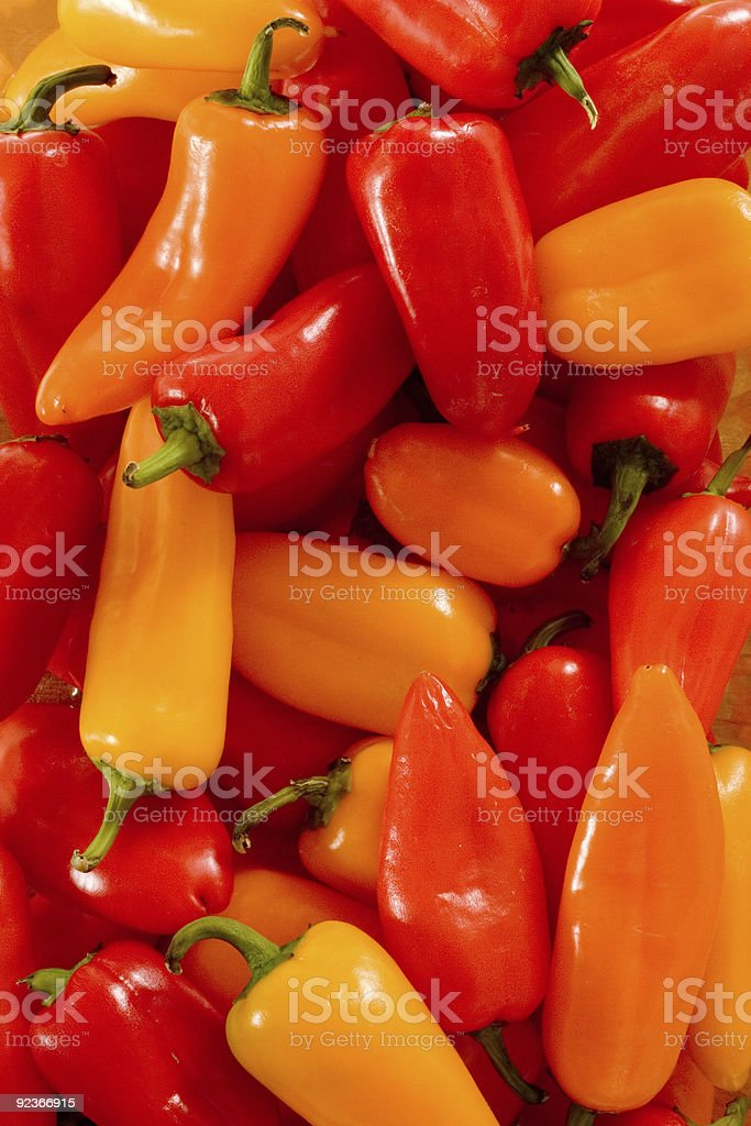 Collection of Sweet Peppers royalty-free stock photo