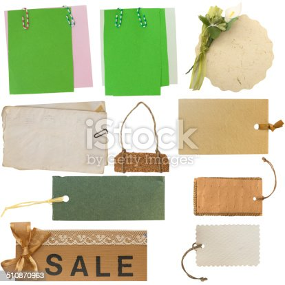 istock collection of tags and labels 510870963