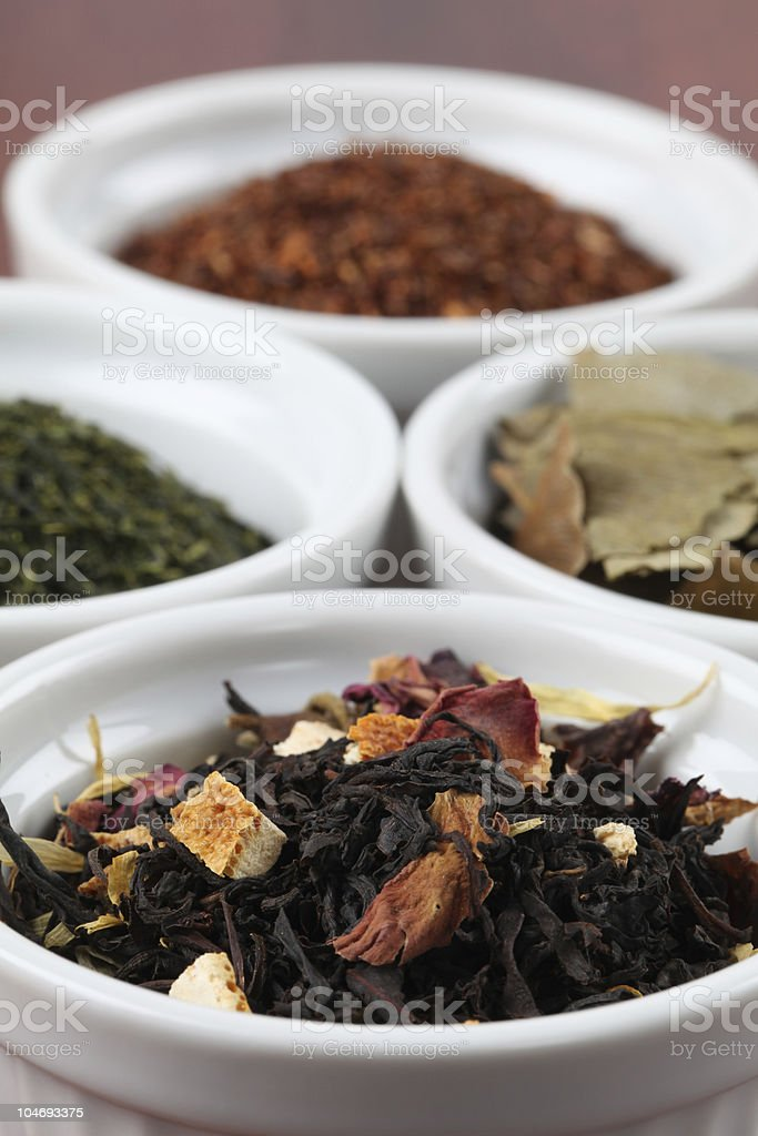 Collection of teas - flavored black tea royalty-free stock photo