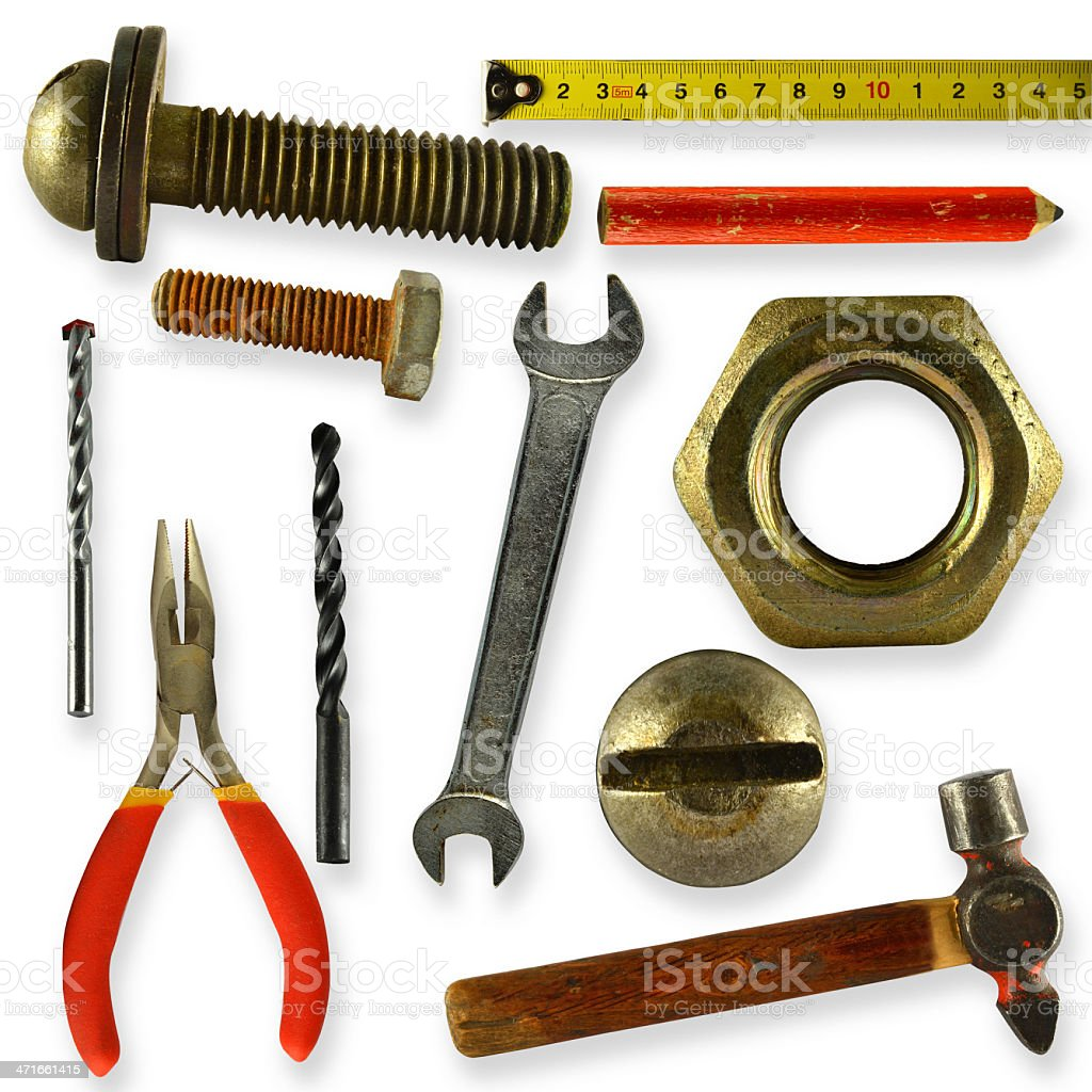 collection of tools royalty-free stock photo