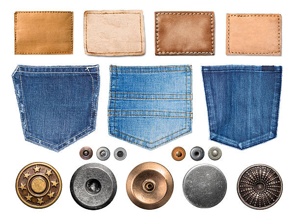collection of various jeans parts – Foto