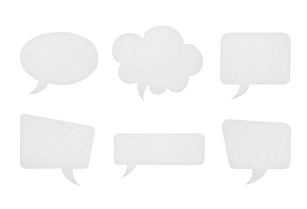 Collection of various paper speech bubbles isolated on white Collection of various paper speech bubbles isolated on a white background. speech bubble stock pictures, royalty-free photos & images