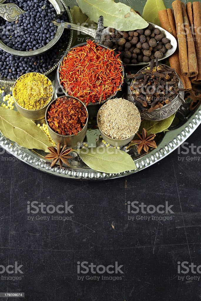 collection of various spices royalty-free stock photo