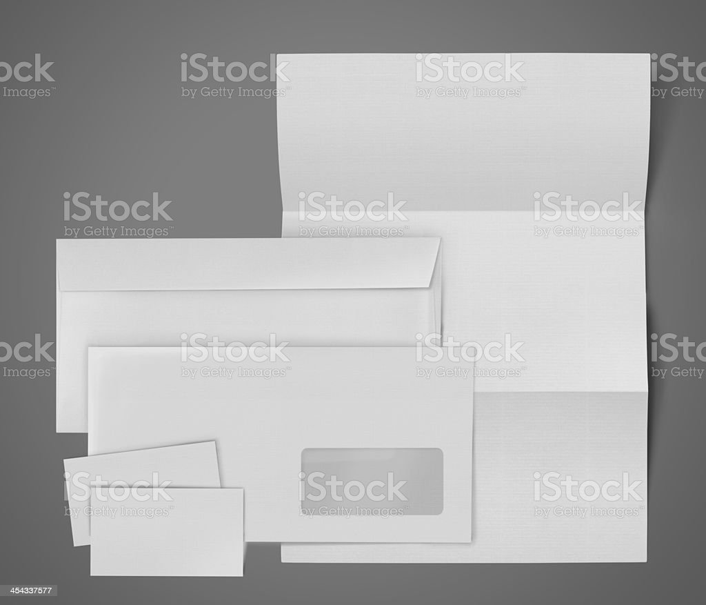 Collection of various stationery royalty-free stock photo