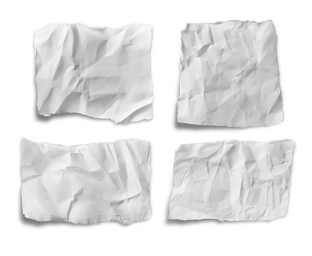 sammlung von verschiedenen weißen papier auf weißem hintergrund. - klapprahmen stock-fotos und bilder