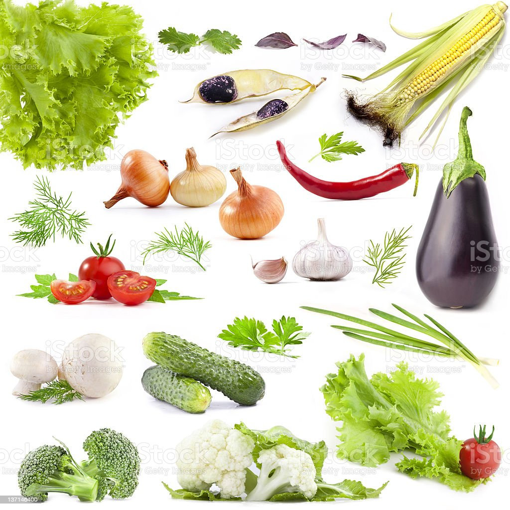 Collection of vegetables royalty-free stock photo