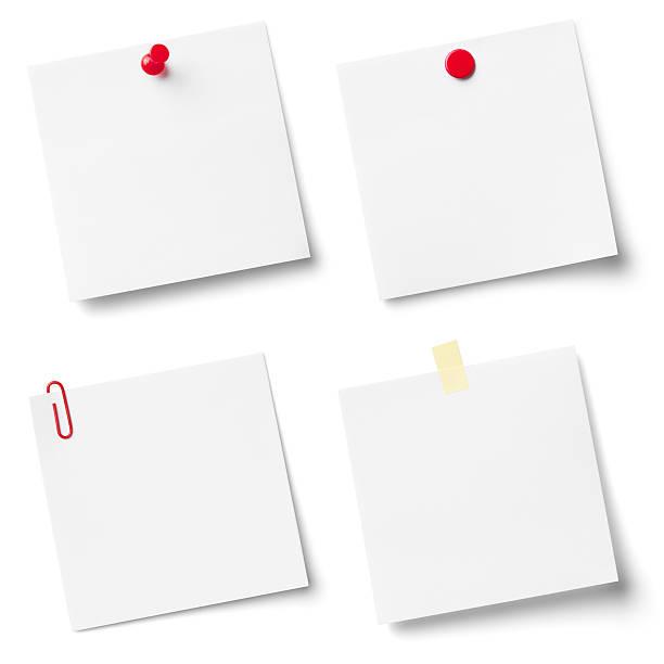 collection de documents de blanc note. - épingler photos et images de collection