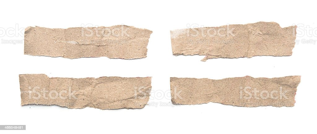 Collection of white paper tears royalty-free stock photo