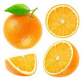 コレクション、全体のカットオレンジに隔てられたホワイト