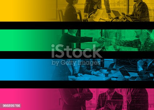 istock Collection of wide banner of business concept. Web design. Index. Tag labels. Header. Hooter. 966899766