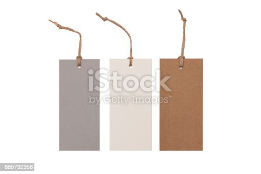 Collection paper price tags