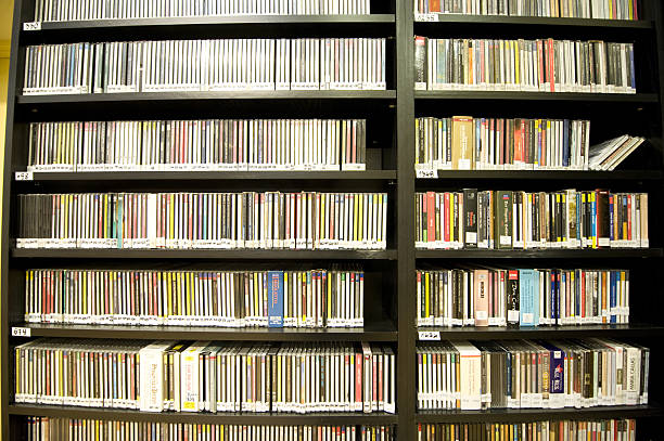 CD collection stock photo