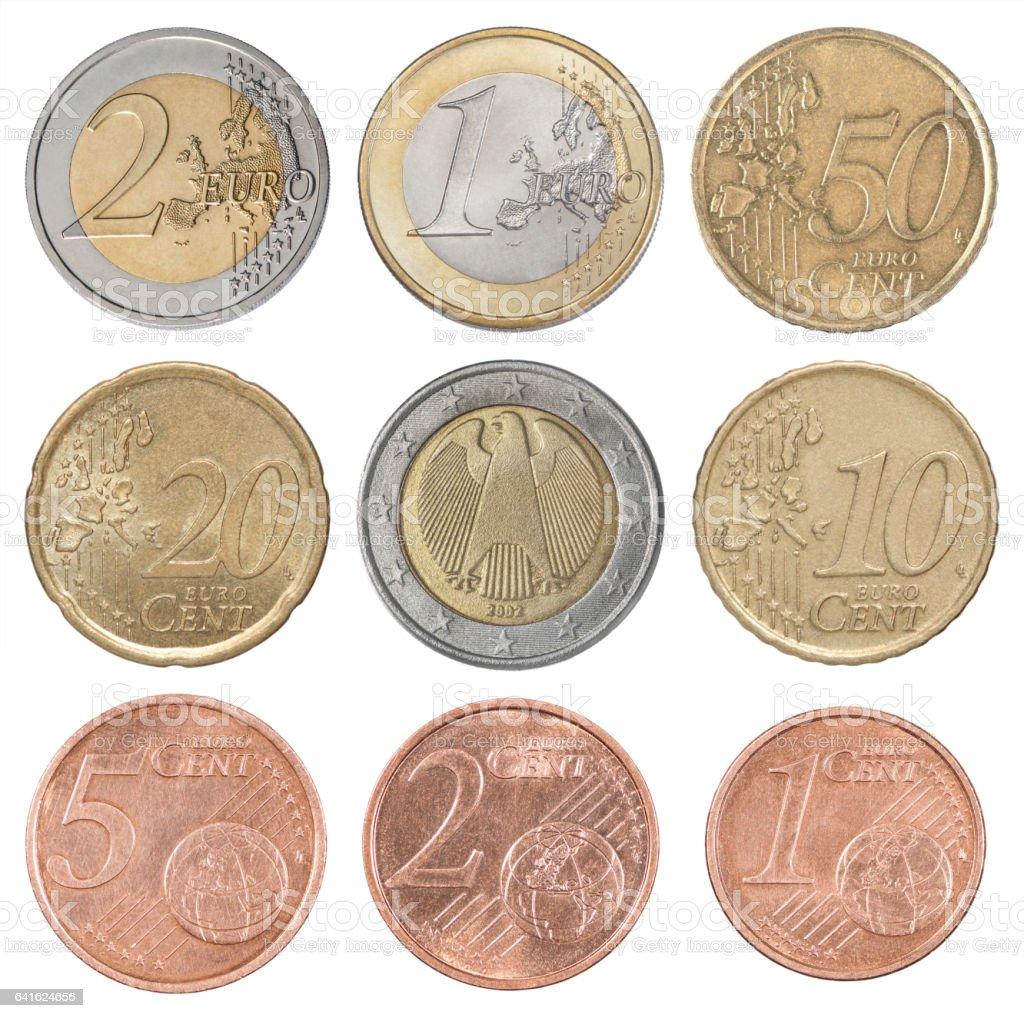 Collection set euro stock photo