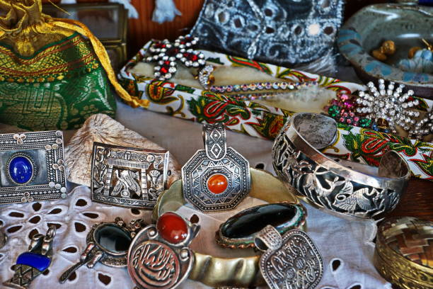 Collection. Souvenirs from the Orient.... stock photo