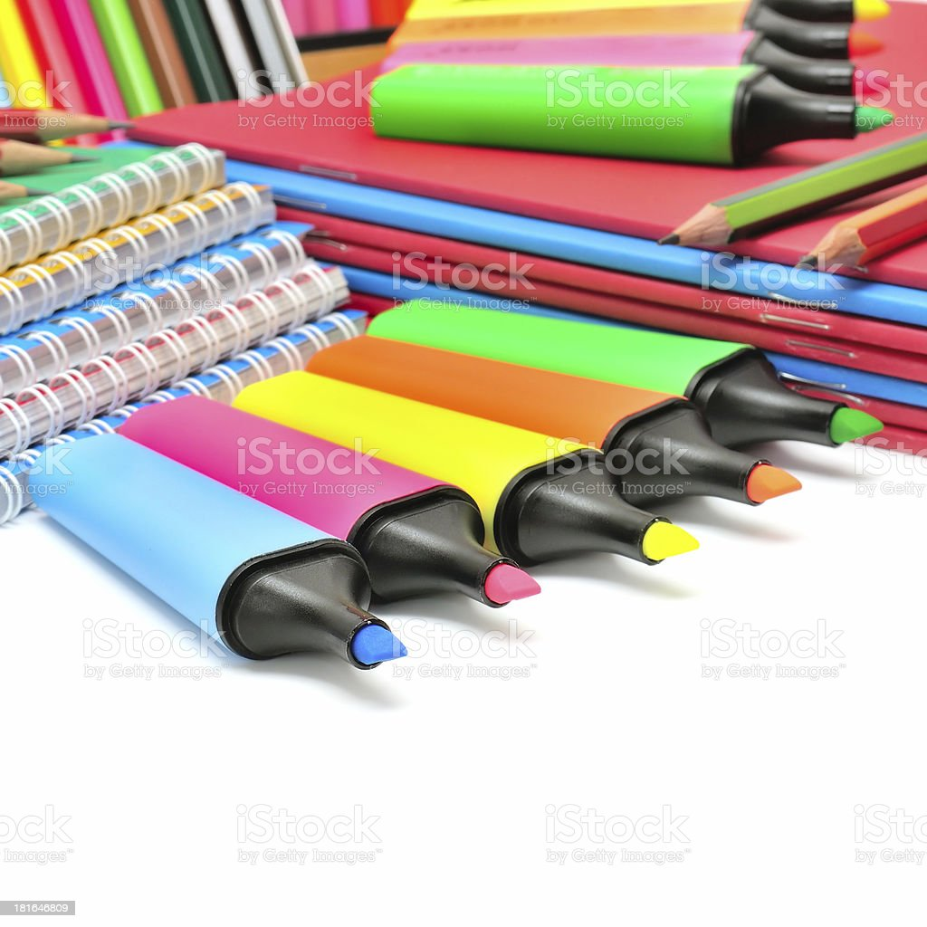 collection stationery royalty-free stock photo