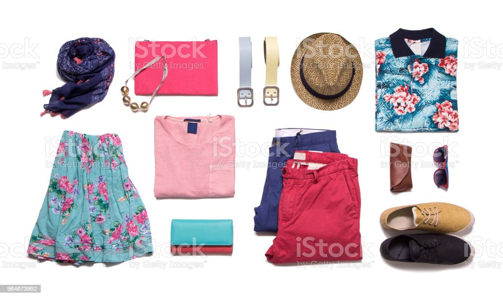 Collection summer clothes royalty-free stock photo