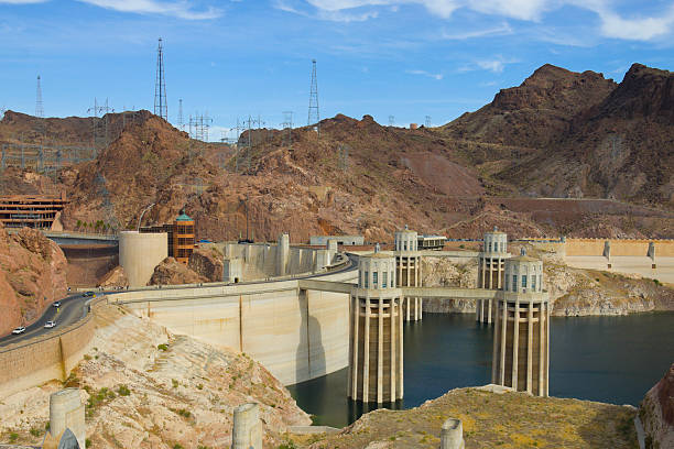 Collection Towers at Lake Mead stock photo