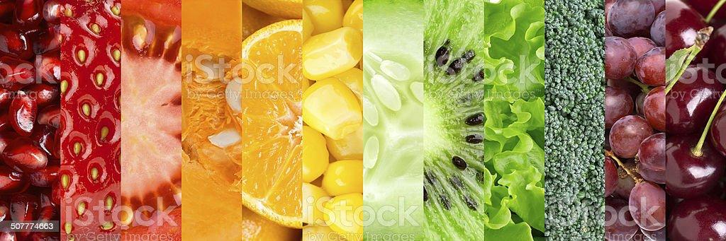 Sammlung mit verschiedenen Obst und Gemüse – Foto