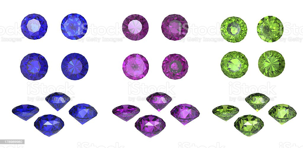 Collections of gems royalty-free stock photo