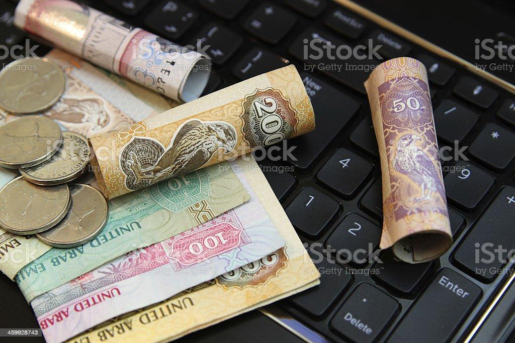 collections uae dirhams stock photo