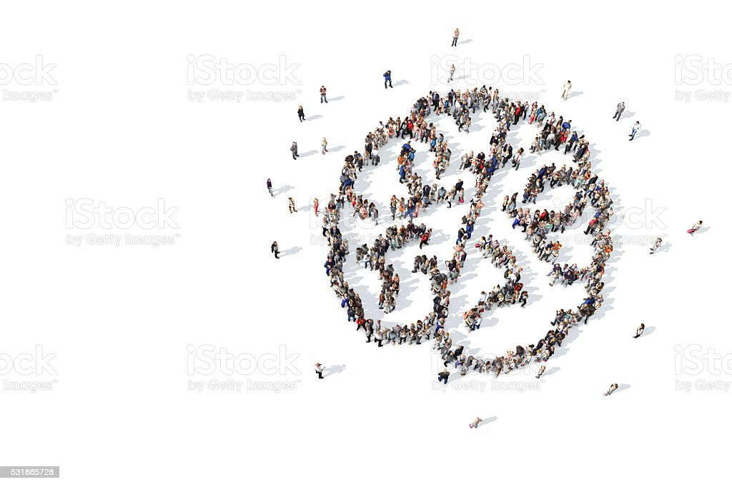 Collective thinking stock photo