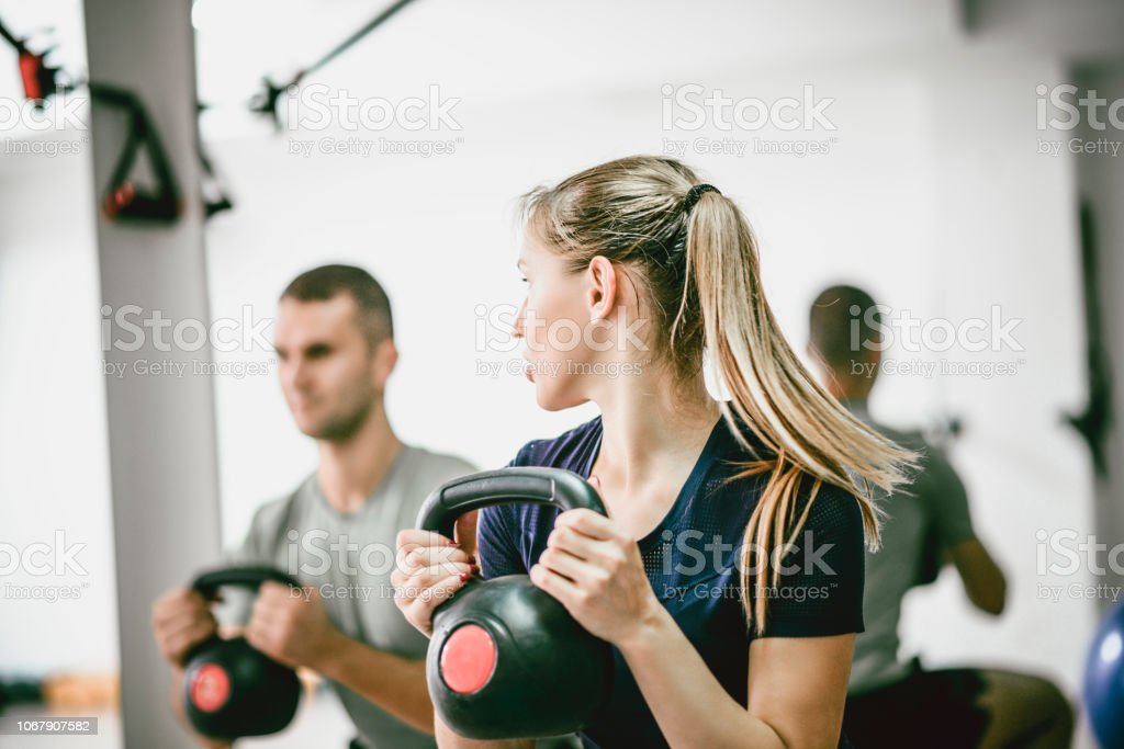 Collective Training stock photo