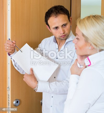 Collector is trying to get the debts from young woman