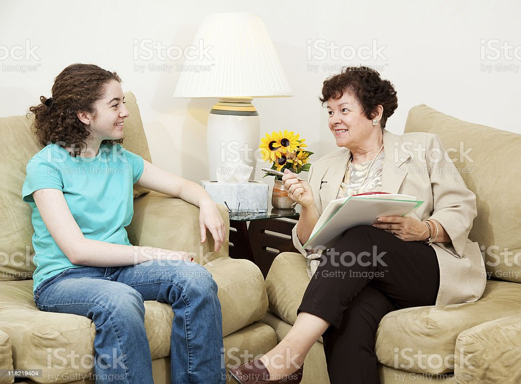 College Admissions Interview royalty-free stock photo