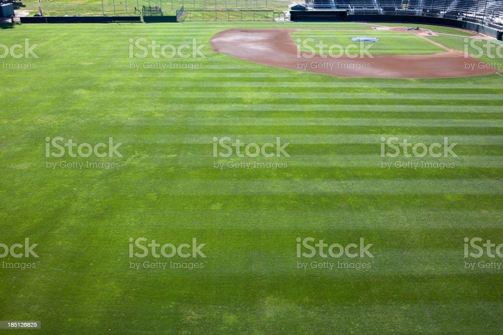 College Baseball Field stock photo