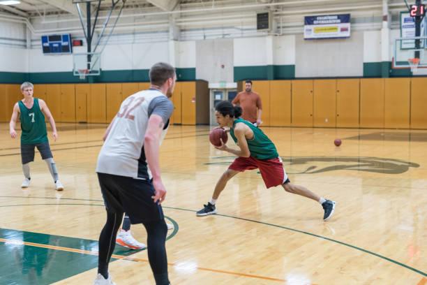 College Basketball Practice stock photo
