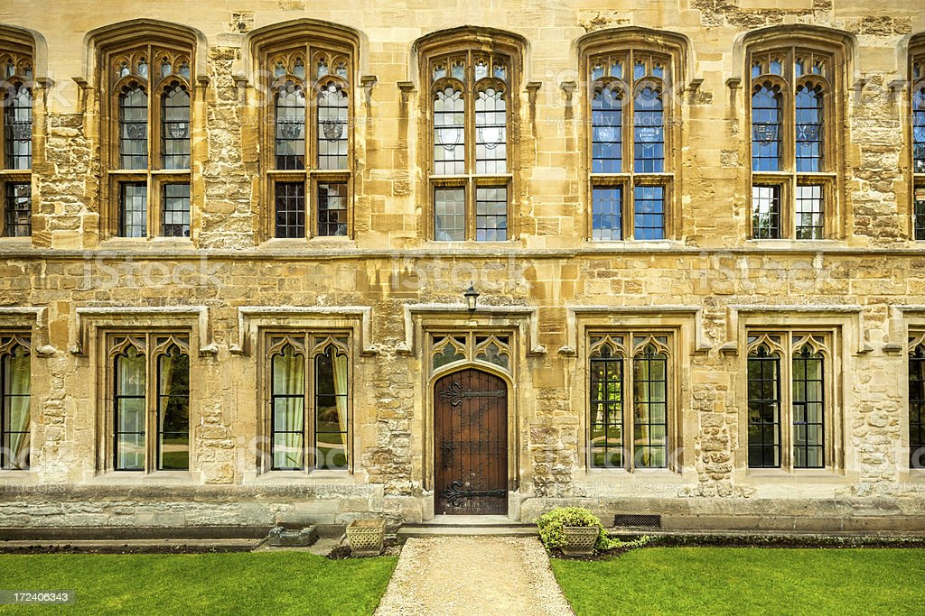college building in Oxford stock photo
