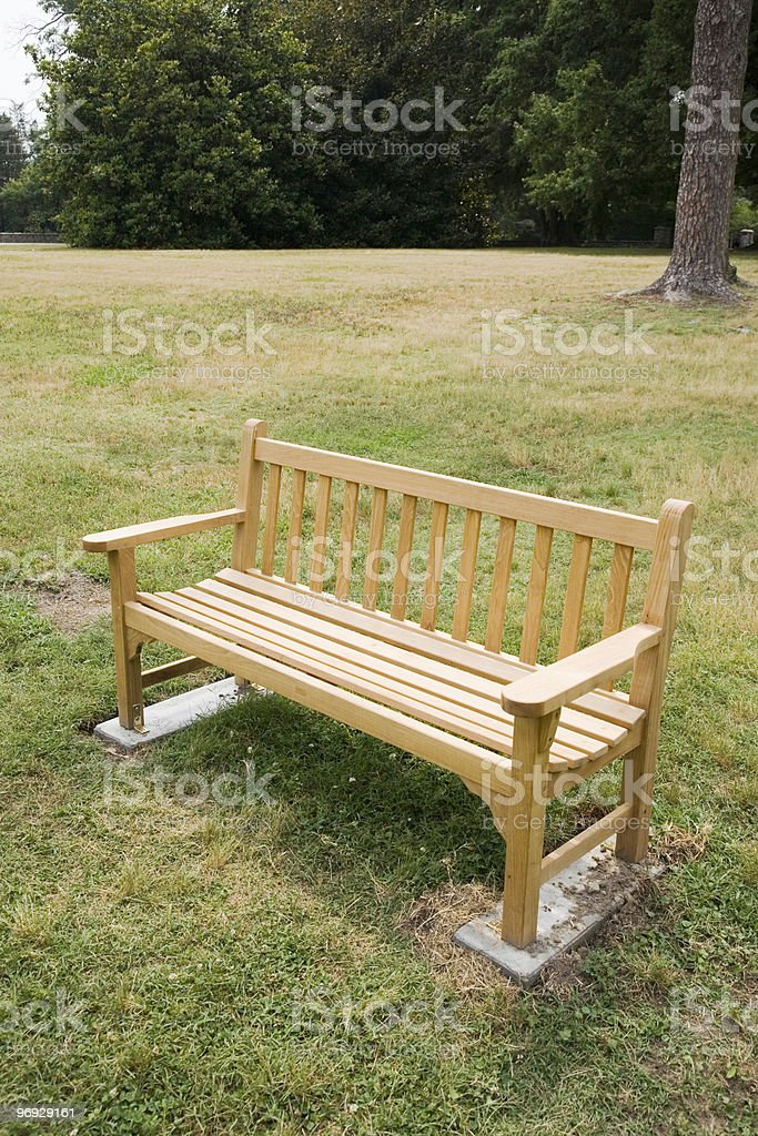 College Campus Bench royalty-free stock photo