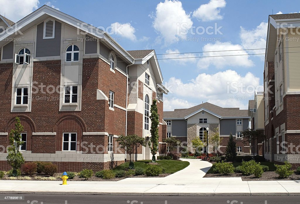 College Campus Housing royalty-free stock photo