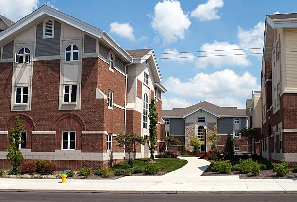 College Campus Housing stock photo