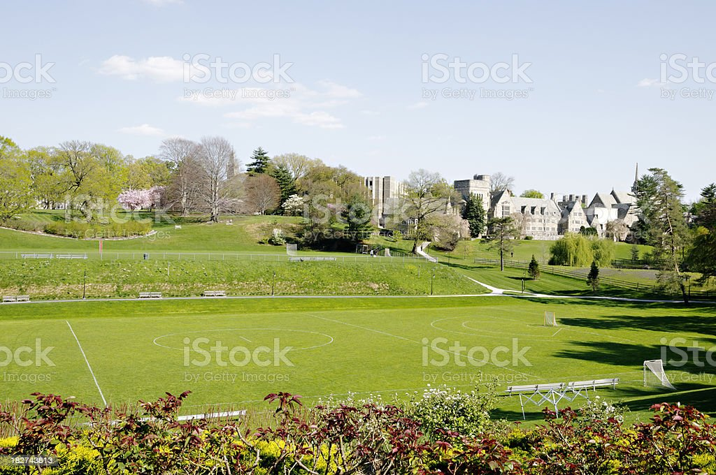College campus in the spring - Pennsylvania royalty-free stock photo