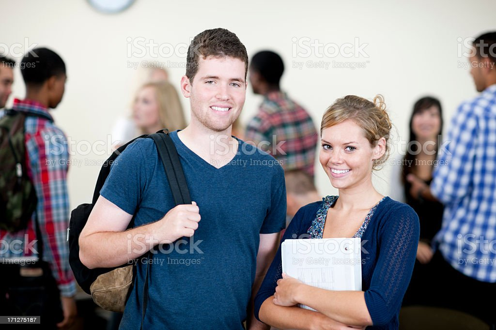College Classroom stock photo
