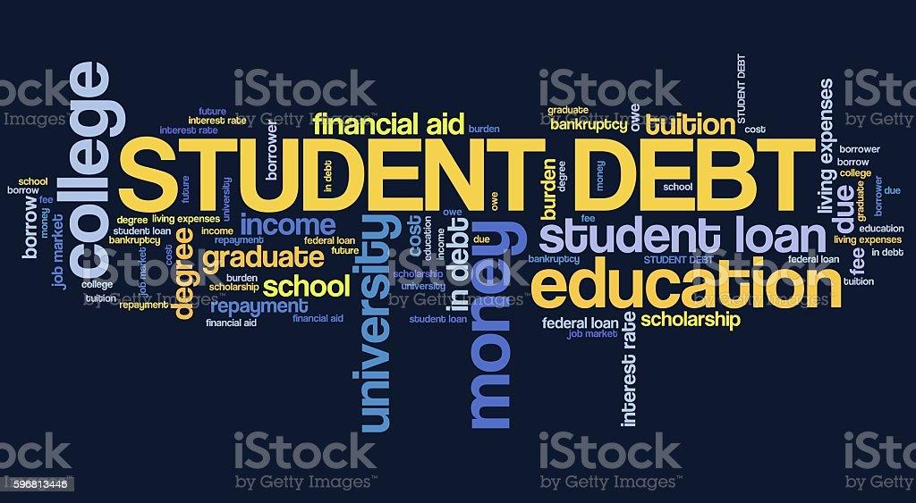 College debt stock photo