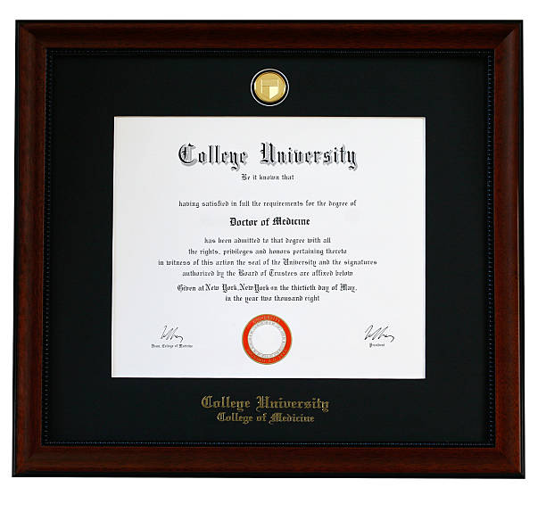 college diploma - diploma stock photos and pictures