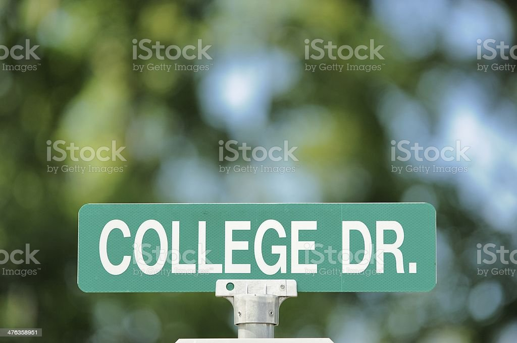 College drive stock photo