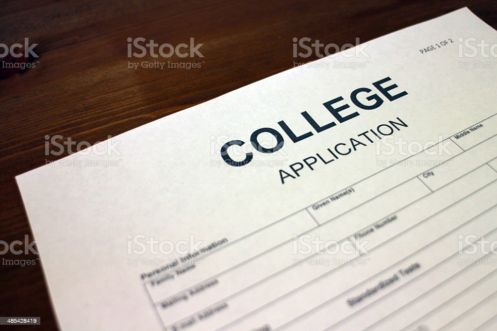 College Enrollment stock photo