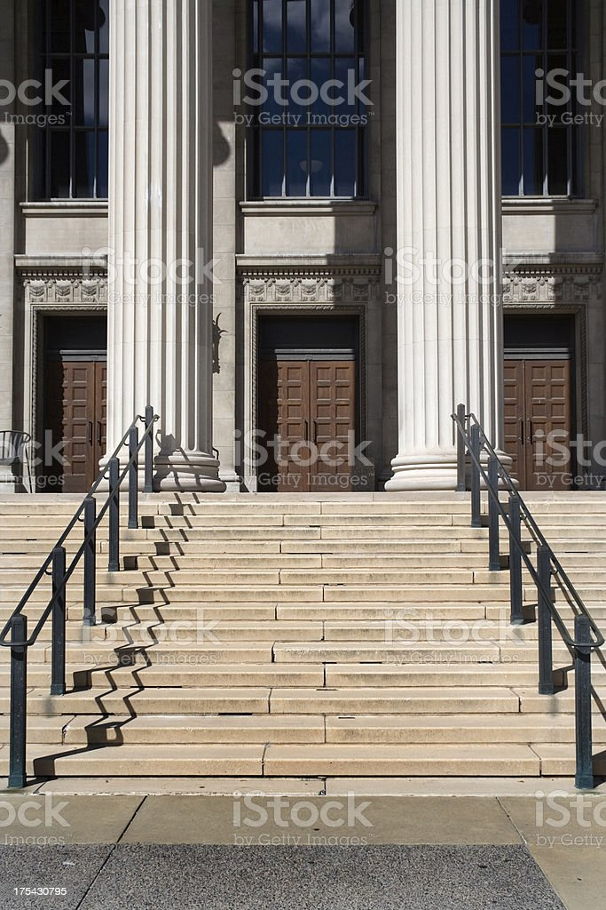 College Entrance royalty-free stock photo
