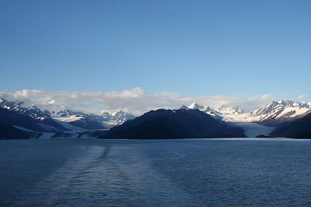 College Fjord, Alaska stock photo