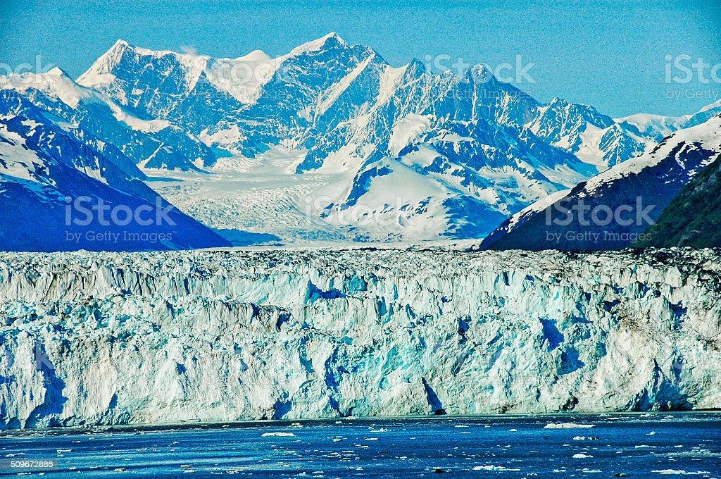 College Fjord Tide Water Glacier stock photo